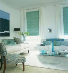 Aqua Fresh Small Pattern And Bright Clean Look Simple Living Room Decor