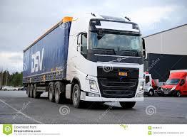 100 Volvo Truck Center White FH 500 On Asphalt Yard Editorial Photo Image