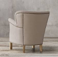 professor s upholstered chair with nailheads