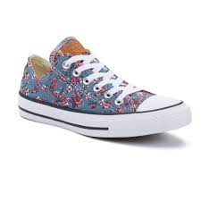 converse chuck taylor all star denim floral shoes