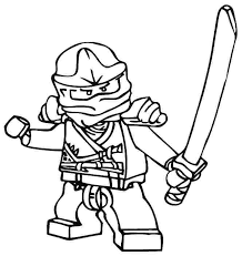 Ninjago Kai Coloring Pages To Print A Lego Zx