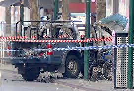 100 Australian Pickup Truck Full Of Gas Cylinders Set On Fire And Three Stabbed In