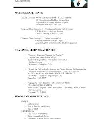Resume Experience Examples High School Students With No On Example Sample Resumes For