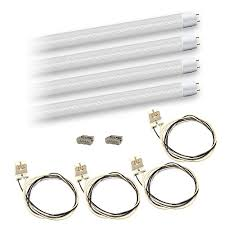 Requires Non Shunted Lamp Holders Tombstones by Led T8 4ft 18watt Clear Lens Retrofit Dlc G13 Base 4 Lamp