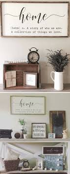 Home Definition Sign Quote Farmhouse Wall Decor Large Framed Wood Rustic Living Room