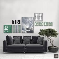 leinwandbilder g wie golf clouds city letter numbers 10 teiliges set