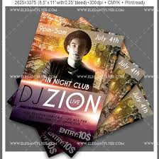 DJ Free Party Flyer Template In PSD