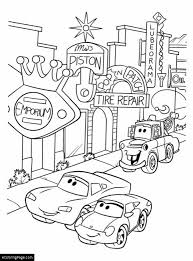 Cars Mcqueen Sally Mater Printable Coloring Page