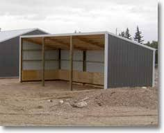 loafing u0026 single slope shed kits hansen pole buildings
