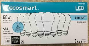 ecosmart led 60w a19 daylight white light bulb review tom s tek