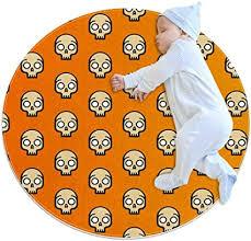 gdfgd gelber totenkopf baby kreisförmige spielmatte