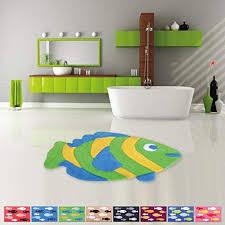 pro home badematte duschvorleger badezimmerteppich auswahl 50x80cm fisch hellgrün lemon