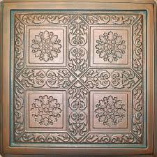 24x24 Pvc Ceiling Tiles by Majesty Antique Copper Patina 24x24