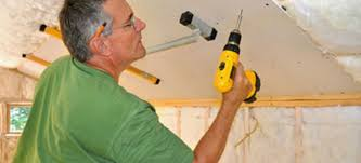 Hanging Drywall On Ceiling by How To Install Drywall On A Basement Ceiling Doityourself Com