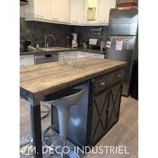 meuble cuisine central table ilot cuisine centrale 3 meuble industriel 238lot centrale