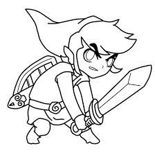 Toon Link Coloring Pages Page Free Download To Print