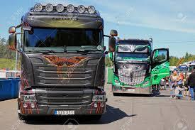 100 Show Trucks HAMEENLINNA FINLAND JULY 15 2017 Scania Golden
