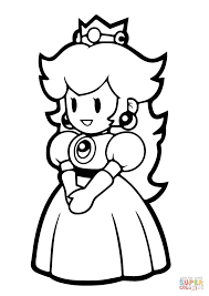 Paper Princess Peach Coloring Page And Pages