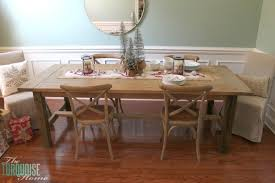 Christmas Centerpieces For Dining Room Tables by Christmas Decorating In The Dining Room And A Rustic Glam