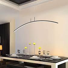 modern led hängeleuchte schwarz metall pendelleuchte lang