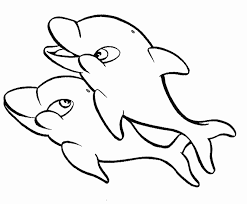 Dolphin Coloring Pages To Print Printable Sheet Anbu