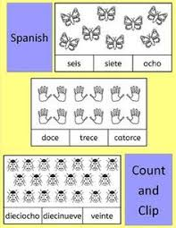 Spanish Numbers Numeros Count And Clip