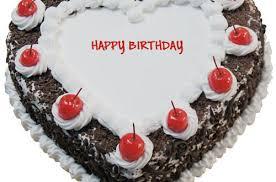Heart Shaped Black Forest Birthday Cake For Lover
