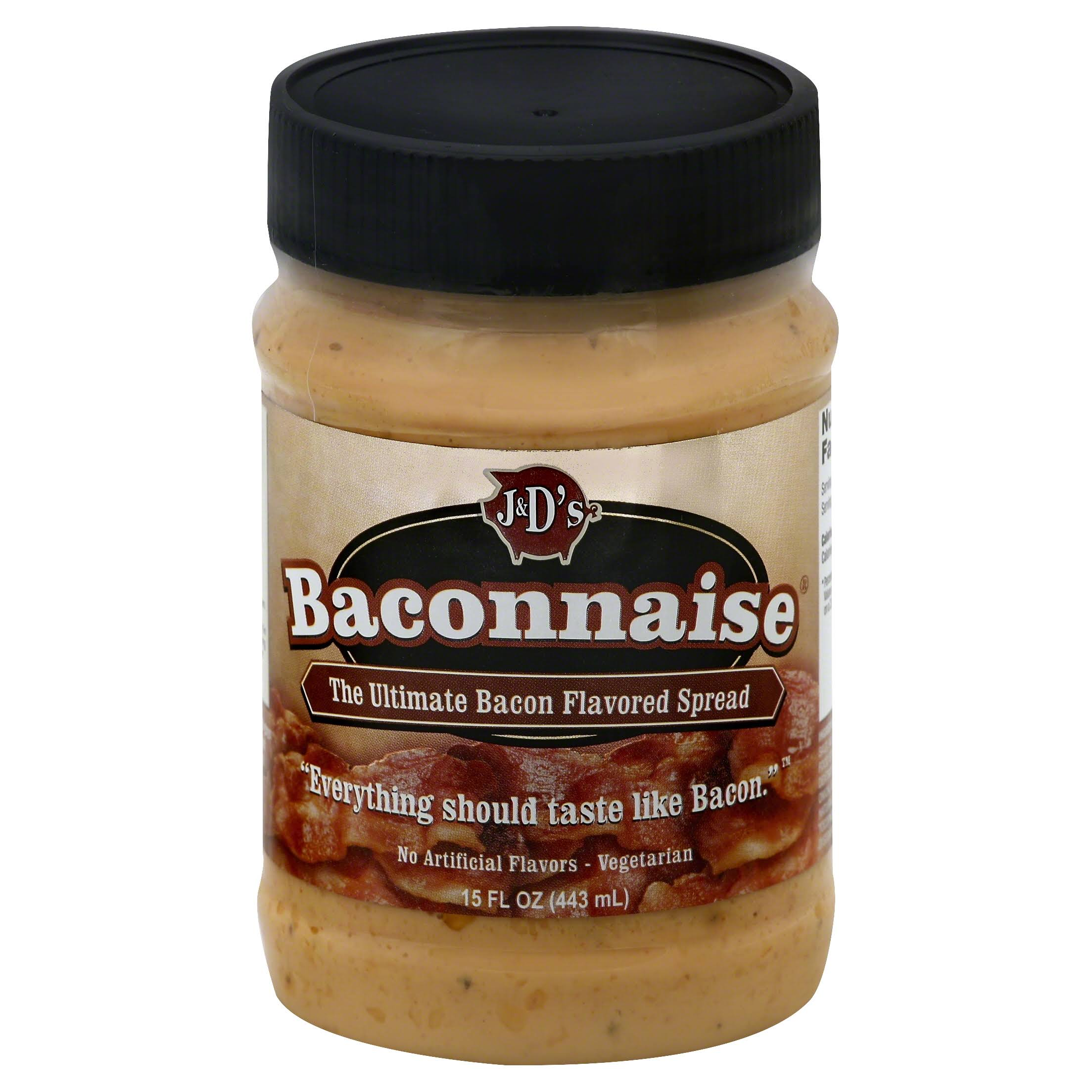 J and D's Baconnaise Spread - Bacon, 15oz