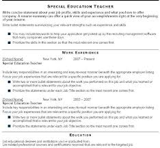 Sample Resume Objectives For Special Education Teachers Samples Bank Preschool Teacher Aide Samp
