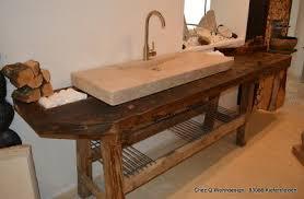 waschtisch naturstein werkbank loft design eiche vintage alt