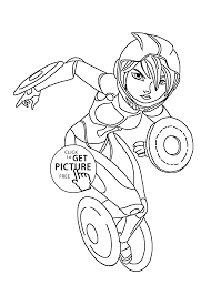 Gogo Tomago Hero Coloring Pages For Kids Printable Free