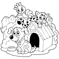 Dog And Puppy Coloring Pages Surfnetkids