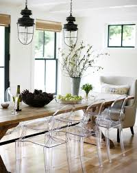 Love The Old Farm Table With Ghost Chairs Modern Farmhouse Louis Chair Dining Room