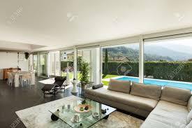 modern villa interior beautiful living room
