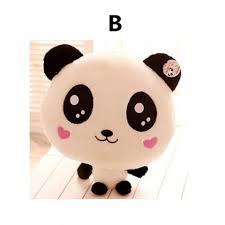 Sweet smile panda pillow pet for kids creative 3D animal plush