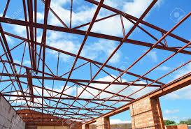 100 House Trusses Metal Roof Frame Construction Metal Rooftrusses Roofing