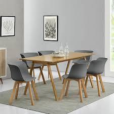 furniture en casa esstisch mit 6 stühlen grau senffarben