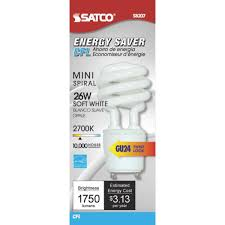 satco t2 spiral gu24 cfl light bulb s8204 do it best
