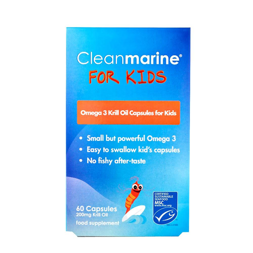 CleanMarine Krill Oil for Kids - 60 Capsules