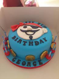blue pirate birthday cake treasure