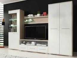 wohnwand fien mit kleiderschrank anbauwand wohnzimmer set tv schrank led ebay