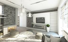 bilder wohnzimmer 3d grafik high tech stil innenarchitektur