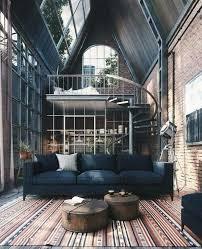 wohnzimmer mit weitblick loft design industrial house