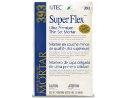tec flex premium modified thin set mortar white