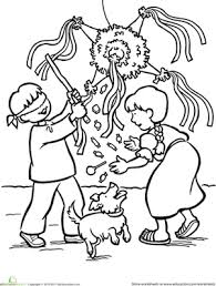 Christmas Second Grade Holiday Community Cultures Worksheets Las Posadas Coloring Page
