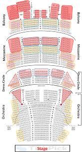 Cadillac Palace Theatre Interactive Seating Chart