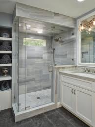 hgtv features this master bathroom with glass and lena white