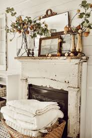 eclectic antique fall pear mantel shabby chic dekor