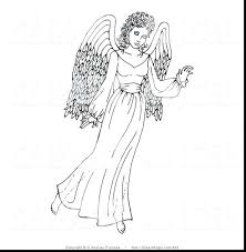 Angel Coloring Pages For Preschool Free Printable Christmas Brilliant Guardian Kids Adults Ornaments