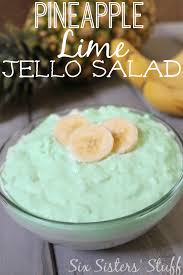 Pineapple Lime Jello Salad Recipe